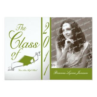 Class Graduation 2011/ Olive Personalized Invite