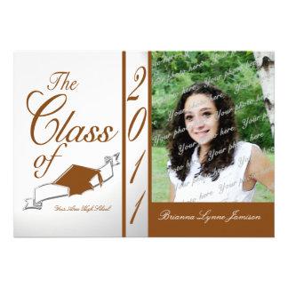 Class Graduation 2011/ Orange Custom Invites