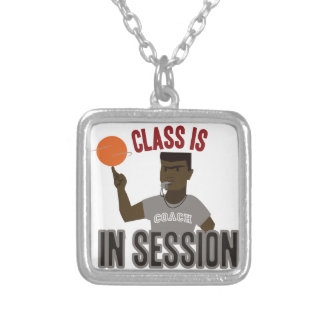 Class in Session Square Pendant Necklace