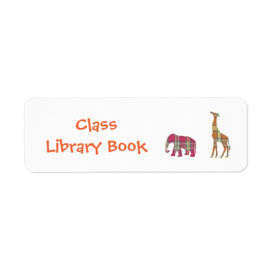 Class Library Book Plate