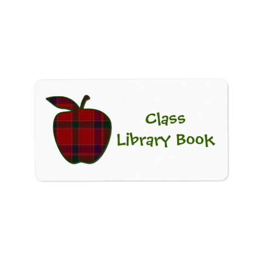 Class Library Book Plate Label