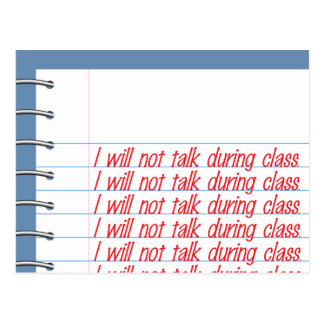 Class Notes Postcard