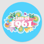 Class of 1961 round stickers