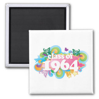 Class of 1964 square magnet