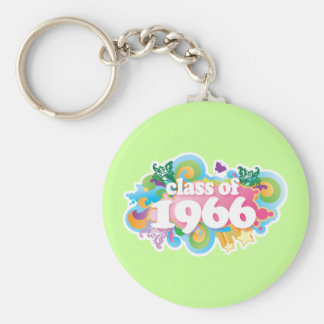 Class of 1966 basic round button key ring