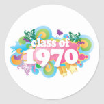Class of 1970 round sticker