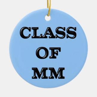 Class of 2000 christmas ornament
