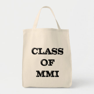 Class of 2001 grocery tote bag