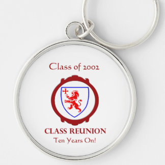 Class of 2002 Silver-Colored round key ring