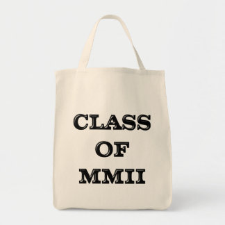 Class of 2002 grocery tote bag