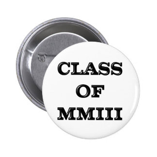 Class of 2003 6 cm round badge