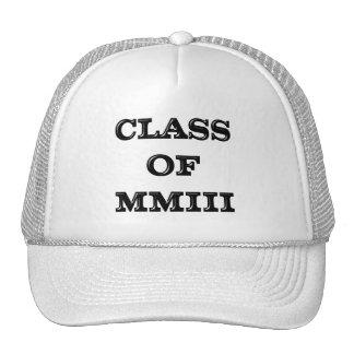 Class of 2003 cap