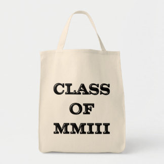 Class of 2003 grocery tote bag