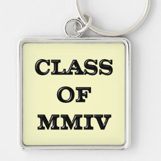 Class of 2004 Silver-Colored square key ring