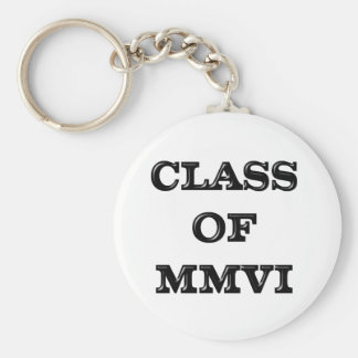 Class of 2006 basic round button key ring