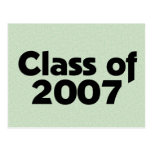 Class of 2007 Green Post Card