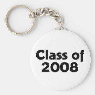 Class of 2008 - Black Key Chain