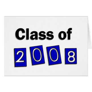 Class of 2008 Blue Greeting Card