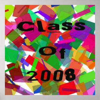 Class Of 2008 Confetti Poster