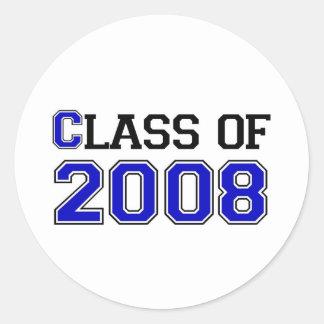 Class of 2008 round sticker