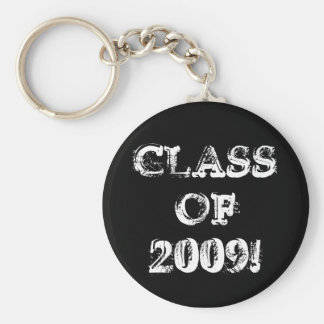 Class of 2009! basic round button key ring