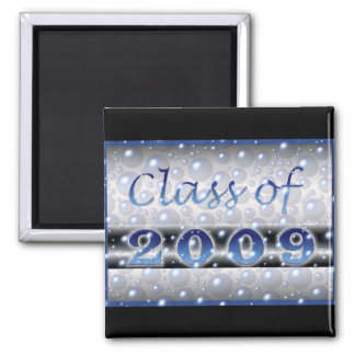 Class of 2009 Bubbles Square Magnet