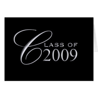Class of 2009 Graduation - Blank Inside Greeting Card