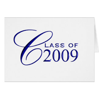 Class of 2009 Graduation - Blue - Blank Inside Greeting Card