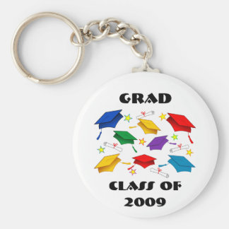 Class of 2009 Graduation Celebration Basic Round Button Key Ring