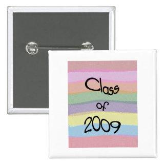 Class of 2009 Pastel Twist Square Button I