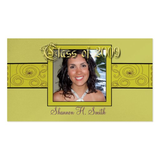 Class of 2009 Senior Cards-your Photo Business Card Template
