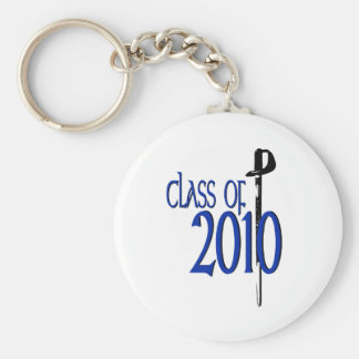 Class of 2010 basic round button key ring