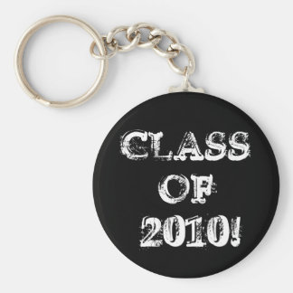 Class of 2010! basic round button key ring