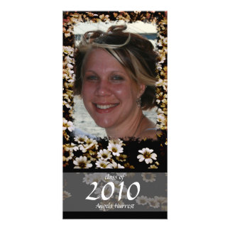 Class of 2010 Enhanced Floral Personalized Photo Card
