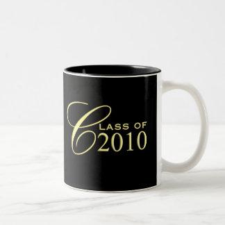 Class of 2010 Graduation Gift Mugs - Black Gold