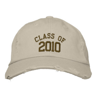Class of 2010 Hats Embroidered Baseball Cap