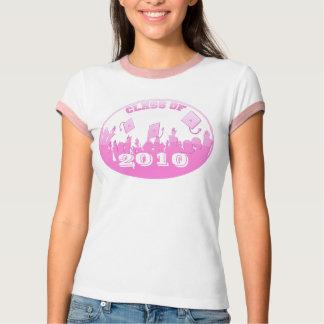 Class Of 2010 Pink Silhouette  Grads Tossing Caps T-Shirt