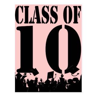 Class of 2010 Silhouettes Graduation Invitation Postcard