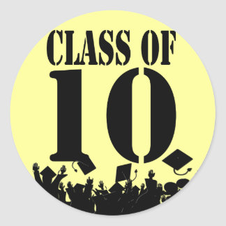 Class of  2010 Stickers Silhouette Grads Tossing
