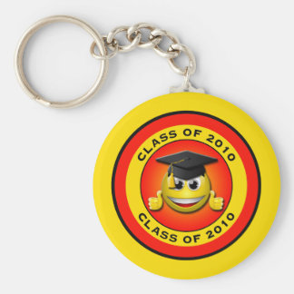 CLASS OF 2010 THUMBS UP SMILEY GRADUATE BASIC ROUND BUTTON KEY RING