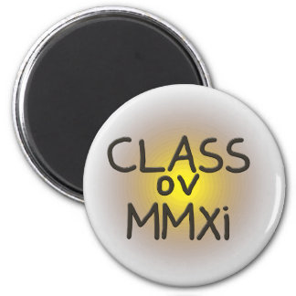 Class of 2011 6 cm round magnet
