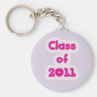 Class of 2011 basic round button key ring