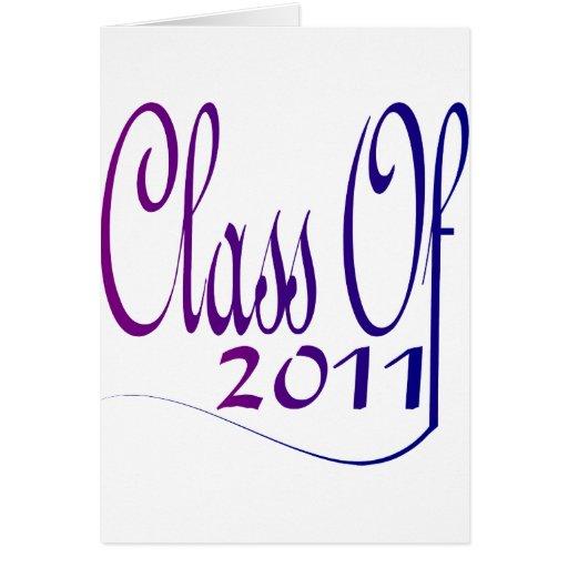 Class Of 2011 Card