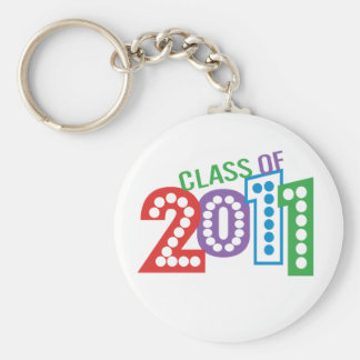 Class of 2011 Celebration Basic Round Button Key Ring