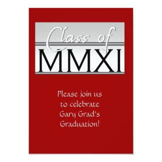 Class of 2011 classy 13 cm x 18 cm invitation card