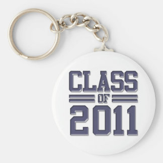 Class of 2011 Graduation Basic Round Button Key Ring