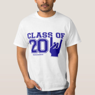 Class of 2011 Graduation Blue and White T-Shirt