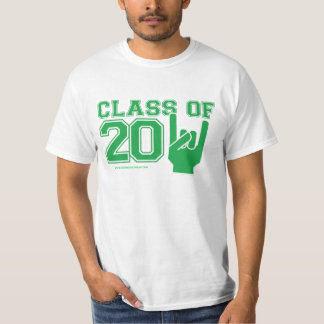 Class of 2011 graduation green and white T-Shirt