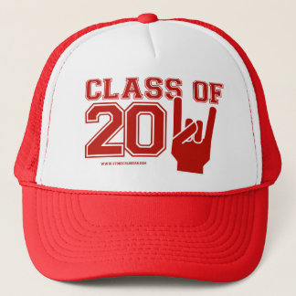 Class of 2011 graduation red and white trucker hat