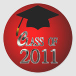 Class Of 2011 Graduation Round Stickers